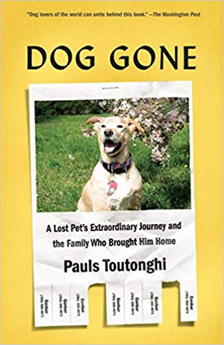 Dog gone : a lost pet's extraordinary journey and the family who                brought him home / Pauls Toutonghi.