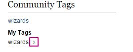 Community tags