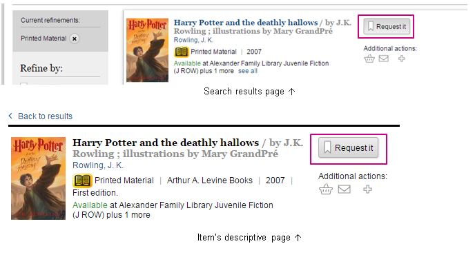 harry potter refined search