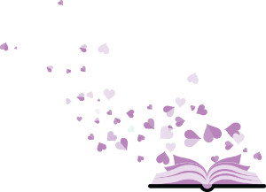 Book with hearts